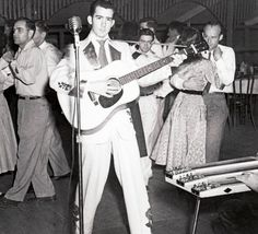 Eddie Bond (born July 1, 1933 in Memphis, Tennessee is a pioneer singer and guitar player of Rockabilly.  In the mid 1950s, Bond recorded for Mercury Records and toured with Elvis Presley, Carl Perkins, Jerry Lee Lewis, Johnny Cash, Roy Orbison, Warren Smith and others. Bond's contribution to the genre has been recognized by the Rockabilly Hall of Fame.
