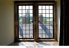 country house beige blue windows | Lead Glass Windows Stock Photos & Lead Glass Windows Stock Images - Alamy