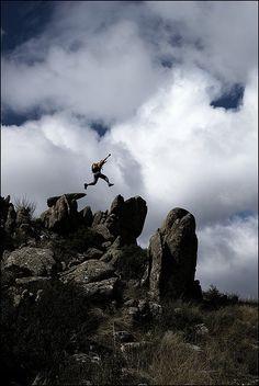 Jump Cloud La Pedriza Madrid Spain