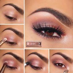 Rosy Smokey Eyeshadow Tutorial - 16 Trending Beauty Tutorials to Look for in 2015! | GleamItUp