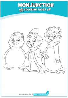 chipmunks coloring pages with flags - photo#3