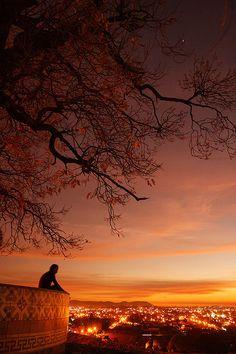 Solitary Sunset, Cholula, Mexico