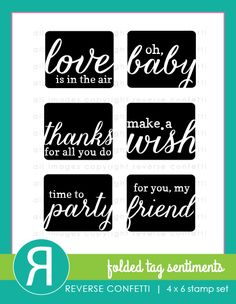 This set, along with the coordinating FOLDED TAG Confetti Cuts die make it fast and easy to put together a card/tag to attach to any gift. We've got just about every celebration covered with this stamp set. Of course, these are the perfect addition to card and scrapbook pages, too.