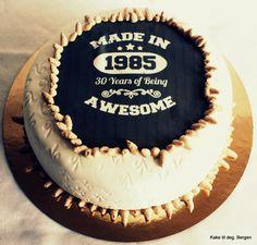 30 Birthday cake for him More