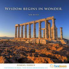 Wisdom begins in wonder…..socrates