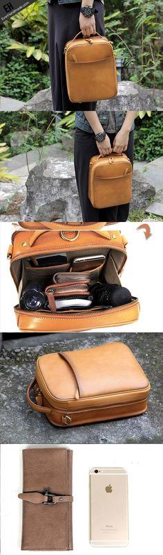4aac361aa6 Handmade vintage satchel leather normal messenger bag beige shoulder bag  for women