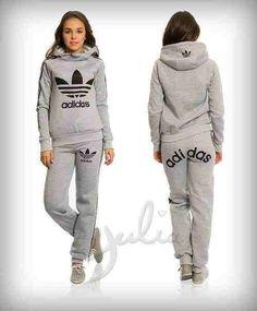 Grey old fashion Adidas tracksuit: