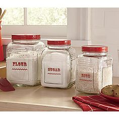 Set of 3 Square Glass Canisters from Seventh Avenue ®   ER710389 $34.95