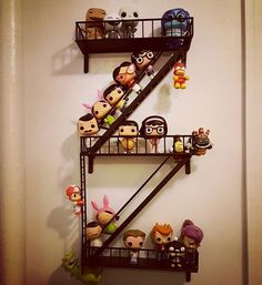 A great gift for city-lovers and apartment-dwellers, this clever shelving unit takes on the form of a fire escape. City Living, Home And Living, Fire Escape Shelf, Gold Diy, Book Nooks, Nightmare Before Christmas, Display Ideas, Organizing, Kids Room