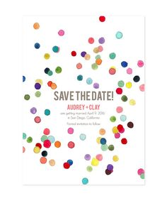 confetti save the date - Ocean Springs wedding ideas Unique Save The Dates, Wedding Save The Dates, Save The Date Cards, Spring Wedding, Diy Wedding, Wedding Ideas, Color Photography, Wedding Photography, Wedding Stationery