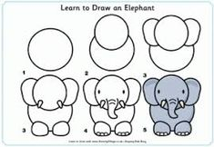Image result for how to draw elephant step by step for kids