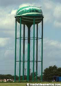 Watermelon water tower, Luling TX.  Stopped at the Luling Fruit Stand many a time on the way to Wimberley.