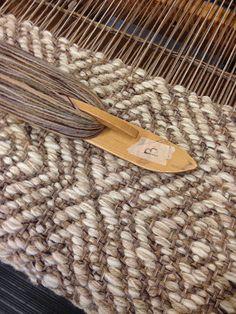 Creswell Taupe on the loom. Handmade Headbands, Handmade Crafts, Handmade Rugs, Loom Weaving, Hand Weaving, Teal Rug, Rug Inspiration, Textiles, Handmade Journals