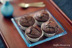 Zartbitterschokolade Muffins, Rezept mit  Schokostückchen, einfach perfekt