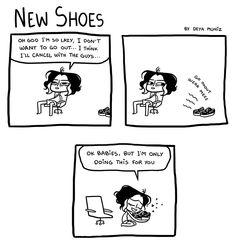 Brutally Honest :: New Shoes  | Tapastic Comics