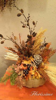 Large Flower Arrangements, Fall Arrangements, Autumn Flowers, Autumn Decorating, Thanksgiving Ideas, Fall Decorations, Centerpieces, Wreaths, Silk