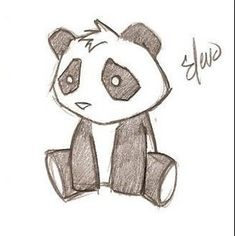 Panda Drawing Images Panda Drawing Pictures & Graphics - Page Cute Drawing Images, Cute Panda Drawing, Beautiful Drawings, Cute Sketches, Drawing Sketches, Drawing Ideas, Sketching, Dibujos Cute, Pictures To Draw