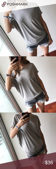 18ffdd6a0baa4a Creamy Mocha Draped Soft Tee If u r a fan of Vince amp Theory tops