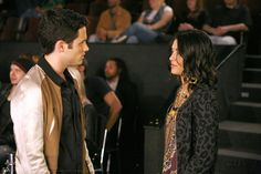 "Penn Badgley as Dan Humphrey and Jessica Szohr as Vanessa Abrams ""Woman on the Verge"""