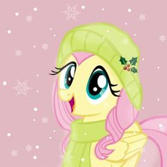 I've come to despise anything that resembles winter in any way lately (note: not the holidays that coincidentally happen to be in winter), but this sweet adorable little pony seems to be a kind of life support for my sanity.