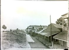 Levee Street, the old commercial district for the City of Carrollton. The street was demolished in the 1890s when the levee was moved back.