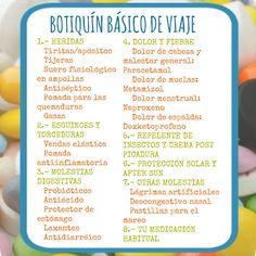 ¿TE VAS DE VIAJE?....¡SÍ, CON BOTIQUÍN!  #botiquin #viaje