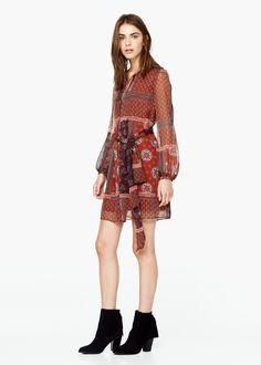 Flowy printed dress