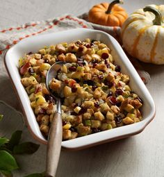 Spice up your Thanksgiving stuffing with this recipe! Cranberries and apples stuff even more flavor into every bite.