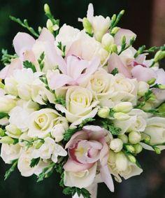 Pent med hvitt, rosa og grønt