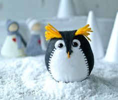 Felt penguin sewing kit. Make your own penguin by HWRDesigns