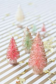 Make little gold-dipped pine trees. | 22 Impossibly Cute Ways To Decorate For Your Holiday Party
