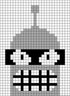 Bender Futurama perler bead pattern