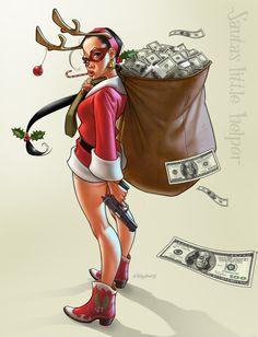 Santas little helper by *Loopydave