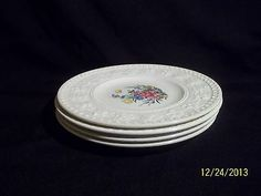 Wedgwood Wellesley Tintern Bread Plates ( 4 ) England Dinnerware Pattern