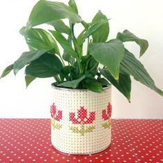 Cross Stitch Planter