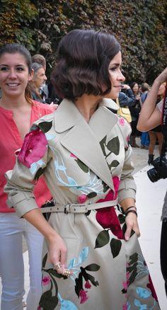 Her coat!  Miroslava Duma