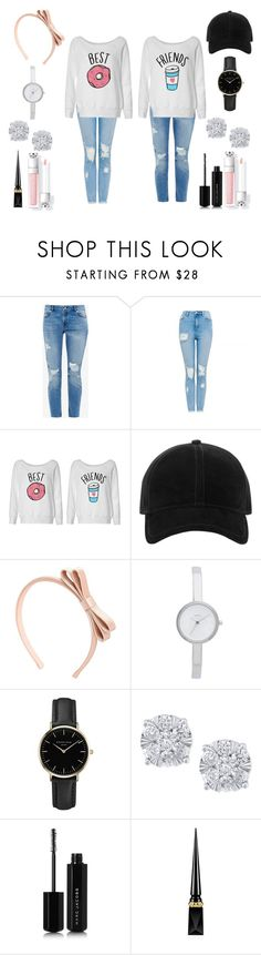 """""""Bestfriend In The Donut Shop"""" by summerbre1234 ❤ liked on Polyvore featuring Ted Baker, rag & bone, RED Valentino, DKNY, ROSEFIELD, Effy Jewelry, Marc Jacobs and Christian Louboutin"""