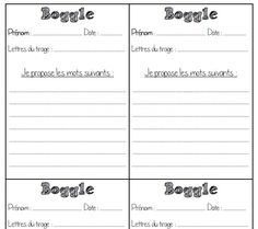 Boggle - explications élèves Boggle, Teaching French, Classroom Ideas, Games, Math, Classroom Games, Purpose, Paper, Teaching French Immersion