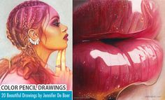 20 Beautiful Color Pencil Drawings by Jennifer De Boer. Read full article: http://webneel.com/25-beautiful-color-pencil-drawings-valentina-zou-and-drawing-tips-beginners | more http://webneel.com/daily | Follow us www.pinterest.com/webneel