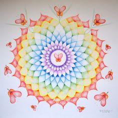 mandalada: Do you recognize it? The & of the mandala . - mandalada: Do you recognize it? The & of the mandala …. Mandala Painting, Mandala Art, Chakra, Mandala Painted Rocks, Mandala Coloring, Geometric Art, Mandala Design, Sacred Geometry, Rainbow Colors
