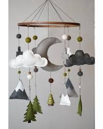 Fox Baby Mobile Mountain Baby Mobile Woodland