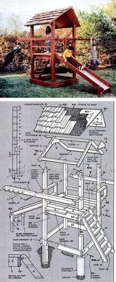 DIY Playground - Children's Outdoor Plans and Projects | WoodArchivist.com #woodworkingforkids