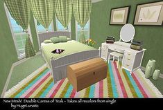 Mod The Sims - Caress of Teak Double Bed