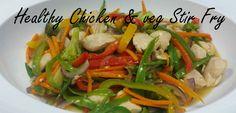 Healthy Chicken & Vegetable Stir Fry (Gluten Free) Veg Stir Fry, Chicken Vegetable Stir Fry, Chicken And Vegetables, Healthy Chicken, Gluten Free Recipes, Poultry, Free Food, Fries, Menu