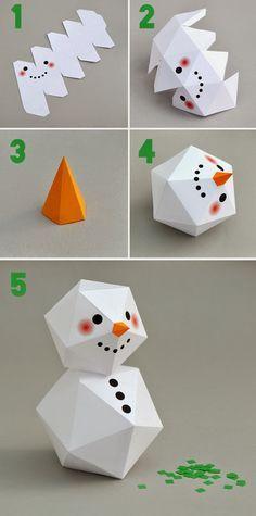 Boneco de neve montável