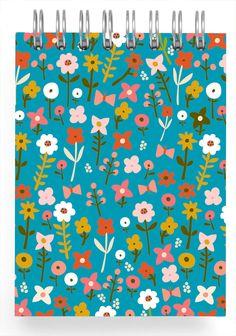 Flora teal mini - Ecojot #floral #botanical