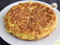 Recette Entrée : Tortilla espagnole pommes de terre et oignons par Ptitchef_officiel