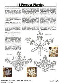 snowflakes crochet 198