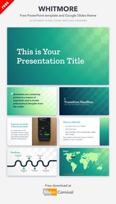 When it comes to business, your message must reach and convince your audience. You can achieve both goals with this free presentation template. Try it today and you will be amazed at how quickly and easily you can prepare your decks. Philosophical Thoughts, Your Message, Presentation Templates, Decks, Quotations, Things To Come, Goals, Messages, Map