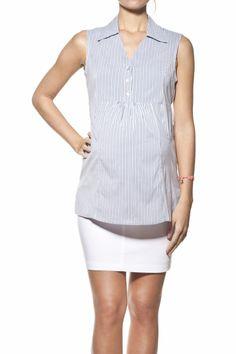 Camisa a rayas sin mangas [15332] - 54,00€ : Tienda premamá online. Moda prenatal para embarazadas y ropa interior para embarazo y lactancia., Demamis.com